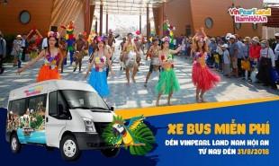 Tuyến xe bus Đà Nẵng đi Vinpearl land Nam Hội An miễn phí hằng ngày.